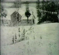 winter landscape by f. f. valerio
