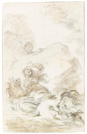 scene from ariostos orlando furioso angelica reaches to the shore by jean honoré fragonard