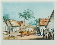 klemsic. a village of german settlers near adelaide by george french angas