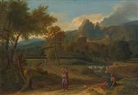 landscape with classical figures by gaspard dughet