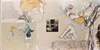 le delassement du peintre francais, avec diseuse de bonne aventure by jean le gac