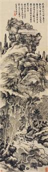 山水 立轴 纸本水墨 by dai benxiao