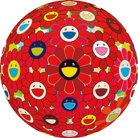 flower ball by takashi murakami