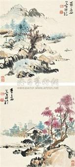 山水 (2 works) by jian jinglun