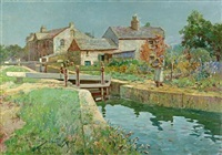 a river town by frederick-davenport bates