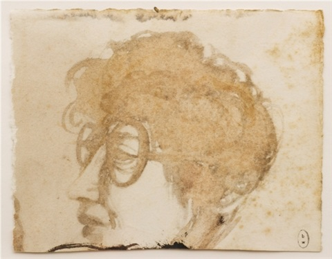 untitled portrait by brett whiteley