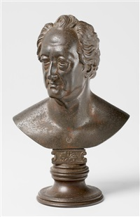 bust of johann wolfgang von goethe (after christian daniel rauch) by leonhard posch