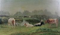 zomermorgen in de antwerpse polder te wilmarsdonk by joseph lemmens
