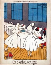 la croix rouge se trouve à la librairie lutétia 66 bd raspail paris by lucien laforge