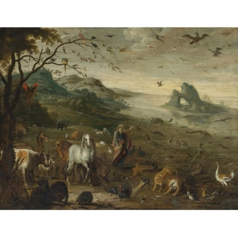 god creating the animals of the world by isaac van oosten