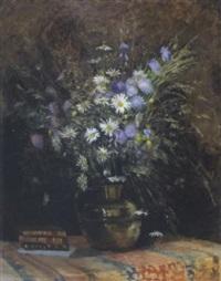sonnenblumenstrauß in vase by paul-marie lapierre-renouard