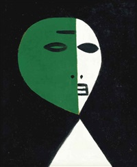 green and white head by theodore major
