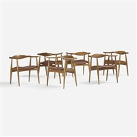 dining chairs model ch-35, set of six by hans j. wegner