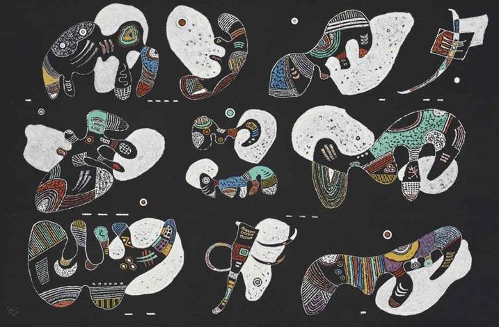 komposition mit weissen formen by wassily kandinsky