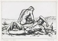 two boys on a beach, no. 2 by paul cadmus