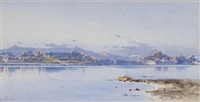 a view of the old citadel in corfu by angelos giallina