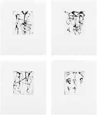 etchings to rexroth (portfolio of 25) by brice marden