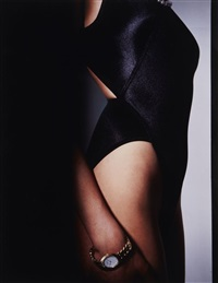 crouching nude by guy bourdin