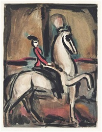 amazone, from: cirque by georges rouault