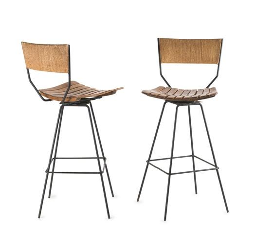 Bar Stühle zwei barstühle pair by arthur umanoff on artnet