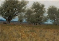 olive trees by alexander harrison