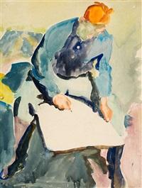 der maler (zeichnender mann) by karl lohse