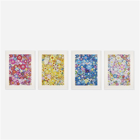 an homage to 4 works by takashi murakami