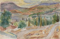 kuchuk lambat, crimea, and road to kuchuk lambat (two works) by pavel petrovitch sokolov
