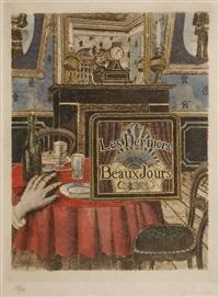 les derniers beaux jours (set of 8) by paul delvaux