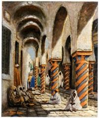 entrée du souk des étoffes, tunis by alfred renz