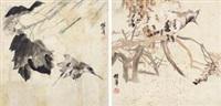 花鸟 (两件) (2 works) by ren bonian