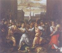 le donne separano i sabini e i romani by angelo lion (leoni)