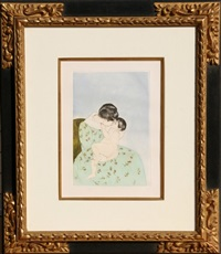 mother's kiss by mary cassatt