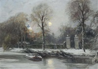 huis ten bosch in winter by louis apol
