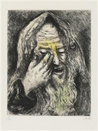 souffrances de jeremie, from: bible by marc chagall