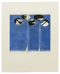 clubs - blue ground (from the clubs and spades series) by richard diebenkorn