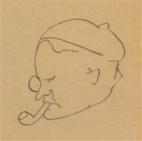 portrait d'henry-louis mermod by gea (georges) augsbourg