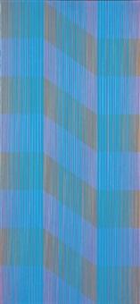 saturated blue by julian stanczak