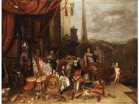allegorie des reichtums als irdisches glück - vanitas by francois van aken