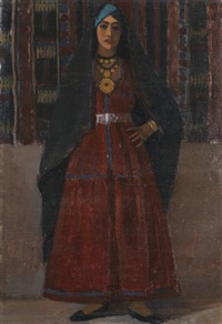 tebbicha robe rouge - ghardaïa by georges andre klein