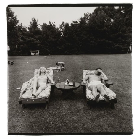 a family on the lawn one sunday in westchester, n.y. by diane arbus