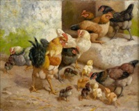 poules et poussins by william baird