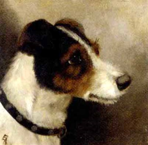 the head of a terrier by edward aistrop