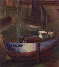 fishing boats by george bernard duncan