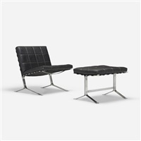 joker lounge chair and ottoman (pair) by olivier mourgue
