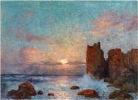 coucher de soleil sur l'océan by ferdinand puigaudeau
