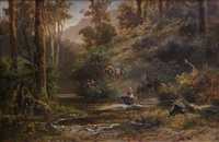 crossing place on the upper goulbourne by james waltham curtis