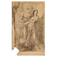 pirates of venus; pencil drawing; untitled (3 works) by j. allen st. john