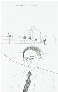 illustrations for fourteen poems from c. p. cavafy by david hockney