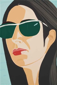 ada with sunglasses (from alex and ada, the to the) by alex katz